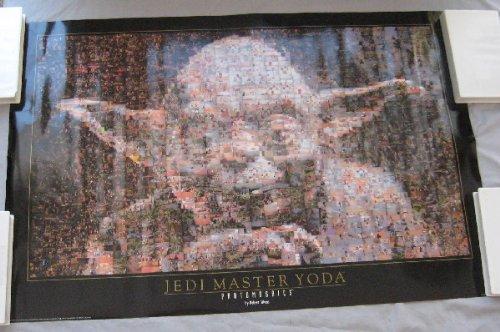 Yoda Jedi Master Photomosaic Star Wars poster 1997 vintage 0