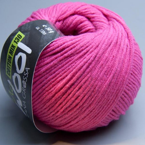 Lana Grossa McWool Cotton Mix 130 - 105 chateau rose 50g Wolle
