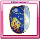 Spongebob Squarepants Pop Up Folding Laundry Storage Toy Basket Bin