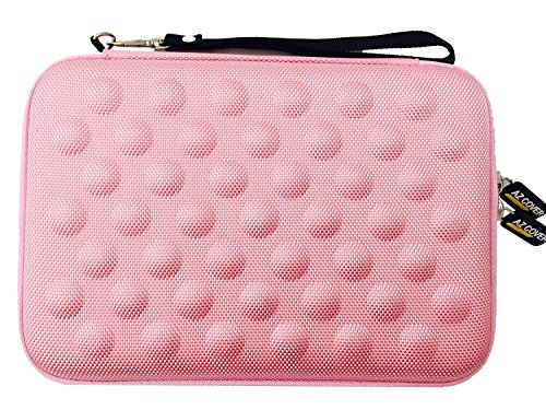 AZ-Cover 7.85-Inch Tablet Semi-rigid EVA Bubble Foam Case (BABY PINK) With Wrist Strap For Trio AXS 4G 7.85in 16GB Quad Core Tablet + One Capacitive Stylus Pen (Trio Axs Quad Core Tablet Cover compare prices)