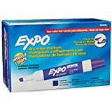 Expo 2 Low-Odor Dry Erase Markers, Chisel Tip, 12-Pack, Purple