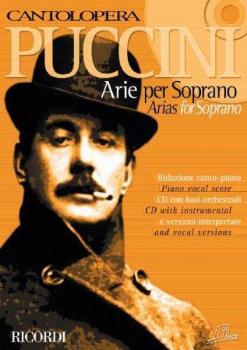 PUCCINI - Arias de Opera Vol.1 (Col. Cantolopera) para Soprano y Piano (Inc.CD)