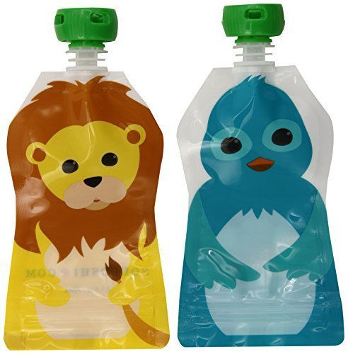 squooshi-reusable-food-pouch-small-lion-bluebird-25-ounce-4-count-by-squooshi