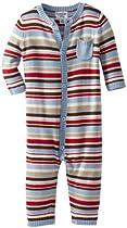Kitestrings Baby-boys Infant Sweater Romper, Whisper Blue, 12 Months