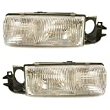 1991-1996 Chevy/Chevrolet Caprice & Impala SS, 1992-1996 Buick Roadmaster & Station Wagon, 1991-1992 Olds/Oldsmobile Custom Cruiser Headlight Headlamp Front Head Light Lamp with Bracket Pair Set Right Passenger AND Left Driver Side (1991 91 1992 92 1993 93 1994 94 1995 95 1996 96)