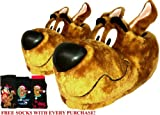 MENS SCOOBY DOO NOVELTY SLIPPERS WITH FREE SOCKS & Free Next Day Prime Delivery!