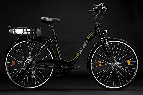 Adore-Damen-Alu-City-Pedelec-Versailles-E-Bike-250-Watt-Li-Ion-36V104-Ah-6-Gnge-Fahrrad-Schwarz-Grn-28