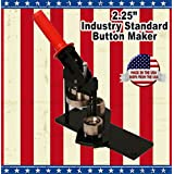 "2.25"" Button Maker Machine + 20 Complete Pinback Button Parts + Cds + Software From American Button Machines"
