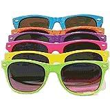 Solid Neon Wayfarer Sunglasses, Turquoise
