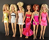 Set of 6 Designer Outfits Made to Fit the Barbie Doll with 6 Peices of Clothing