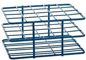 Bel-Art Scienceware 187882001 Steel Poxygrid Half Size Wire Test Tube Rack 18-20mm Tube, 20 Place, Blue