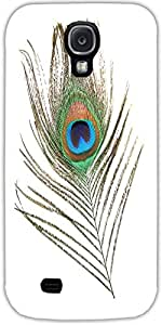 Snoogg Peacock Wing Protective Case Cover For Samsung Galaxy S4