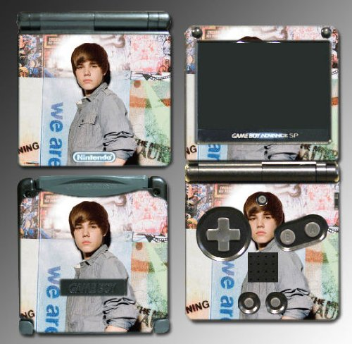 Justin Bieber Baby Vinyl Decal Cover Skin Protector 19 for Nintendo Gameboy GBA SP