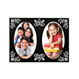 Table Top Designer Photo Frame Black( 2 Photos Of 3.5x4.5 Inch)