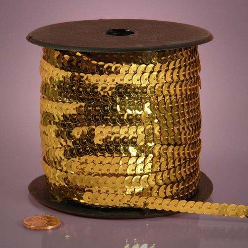 Gold Metallic Sequins, 6mm X 80Yd