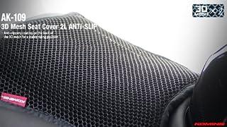 コミネ(Komine) AK-109 3D Air Mesh Seat Cover Anti-Slip BLACK L09-109