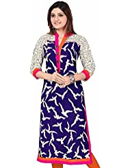 Vatsla Women's Blue Color Cotton Dress With Free Pink Color Legins (VDR-51030C_Black )