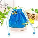 巾着・小 コップ入れ・コップ袋  夢色セスナで青空散歩 日本製