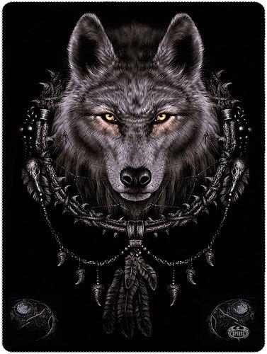 Coperta Di Lana Wolf Dreams Spiral Direct (150 x 200cm)