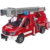 Bruder 2532 - MB Sprinter Feuerwehr m. Drehleiter, Pumpe und Light & Sound Modul, rot