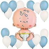 Boy Baby Balloon Kit (Blue and White)