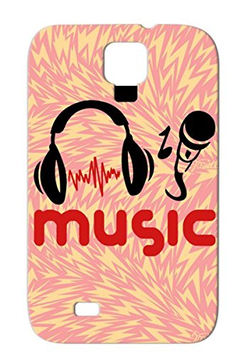 Music Red Rampampb Karaoke Sound Disco Party Rocknroll Country Metal Musik Headphone Music Jazz Microphone Micro Classic Dancer Fun Rock Mikrophone Dj Pop Dance Hiphop House Records Case Cover For Sumsang Galaxy S4