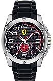 Ferrari 0830088 Scuderia SF104 Chrono Black Dial Black Silicone Men Watch NEW