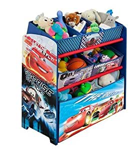 Disney Pixar Cars Multi-Bin Toy Organizer