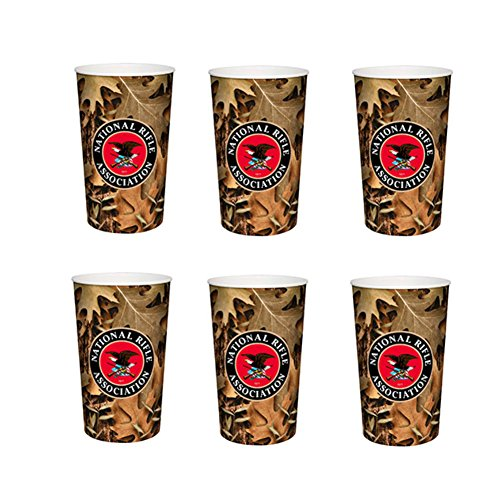 Officially Licensed National Rifle Association NRA Plastic Travel Cup Camouflage 6 Pack (Nra Cup compare prices)