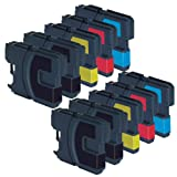 10 x Brother LC1100 LC980 Compatible Ink cartridges for the DCP-145C, DCP-165C, DCP-373CW, DCP-383C, DCP-375E, DCP-385C, DCP-535CN, DCP-585CW, DCP-6690CN, DCP-6690CW, MFC-250C, MFC-255CW, MFC-290C, MFC-295CN, MFC-297C, MFC-490CN, MFC-490CW, MFC-5895CW, M