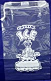 Plastic Ice Bags 10 Lb. With Draw String Closure - Pack of 100