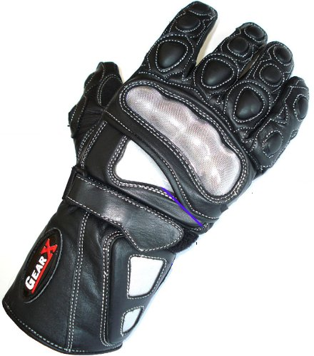 Airflow Leather Motorbike Racing Protection Gloves Carbon Kevlar All sizes picture