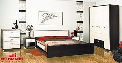 Schlafzimmer komplett 4-teilig 65160 wenge / birke