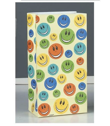 Happy Face Paper Party Bags 10ct