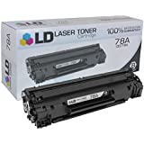 LD © Compatible Replacement Laser Toner Cartridge for Hewlett Packard CE278A (HP 78A) Black for use in HP Laserjet P1566, Pro M1536dnf, and P1606dn Printers
