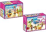 PLAYMOBIL® maison de poupées set en 2 parties 5304 5306 chambre pour bébé avec bercea