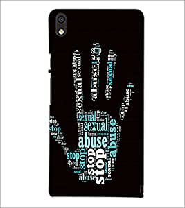 PrintDhaba Typographic Hand D-4766 Back Case Cover for HUAWEI ASCEND P6 (Multi-Coloured)