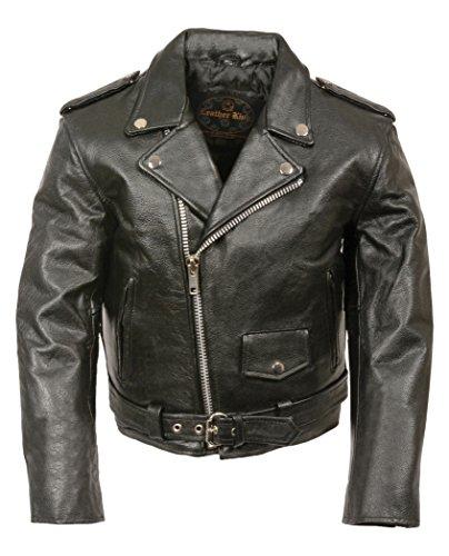 Milwaukee Leather Kids Basic Motorcycle Jacket (Black, Large)