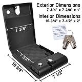 100 Fingerprint Portable Gun Safe Biobox Cable Biometrics Pistol