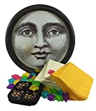 Man in the Moon Tray, Star Reusable Ice Cubes, Bamboo Coasters, Napkins Party Set for Fourth of July and Other Holidays