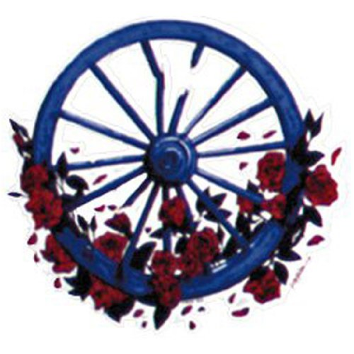 Amazon.com: Grateful Dead - Wheel & Roses Window Sticker