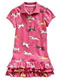Joules Girls Tennis Dress Candy Pink Pony Print (7