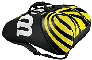 Wilson BLX Tour Super Six Pro Tennis Bag - Black/Yellow