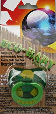 Billy Bob Eco Baby Pacifier - Recycle Green Toddler Child