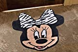 AVIRA HOME 1200 GSM MINNIE MOUSE MAT- KIDS ROOM MATS- BATHMAT-DOOR MAT-100% COTTON-BLACK & WHITE