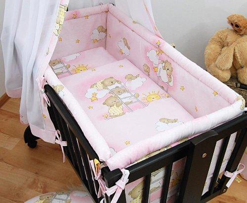 Baby Comfort   5 Piece Crib Bedding Set fits Crib / Cradle 90x40cm - LADDERS PINK