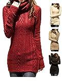 V28® Women Polo Neck Knit Stretchable Elasticity Long Sleeve Slim Sweater Jumper