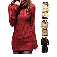 V28� Women Polo Neck Knit Stretchable…