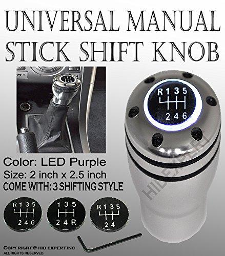 JDM NEW Shift Knob White LED Top-Glow Series Aluminum Silver Manual Car L#26 (White Shift Knob Honda compare prices)