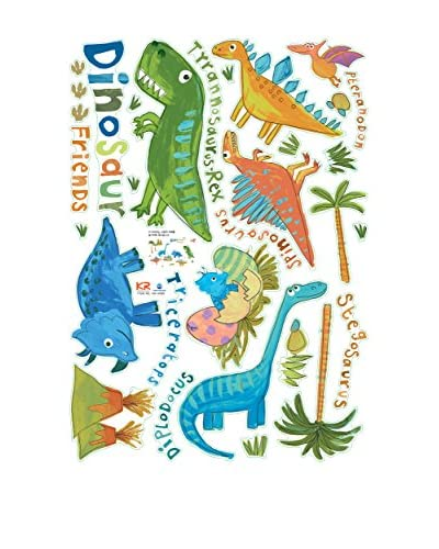 Ambiance Live Vinilo Decorativo Small Colorful Dinosaurs Multicolor